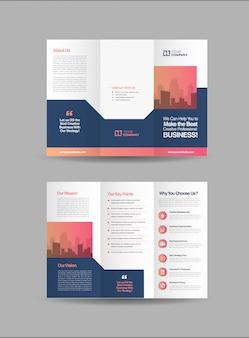 Modèle de brochure à trois volets d'affaires