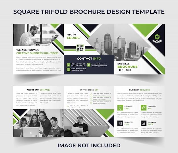 Modèle de brochure à trois volets carré