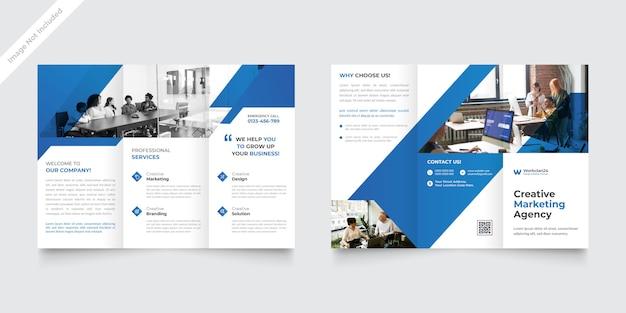 Modèle de brochure à trois volets d'entreprise