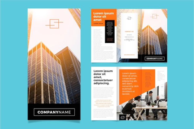 Modèle de brochure à trois volets minimal