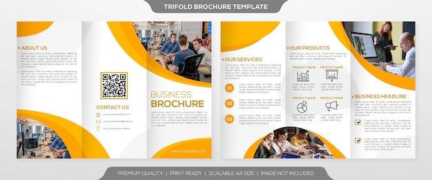 Modèle de brochure à trois volets minimaliste