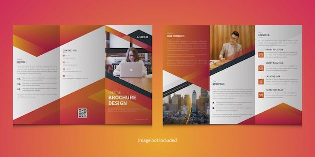 Modèle de brochure à trois volets moderne