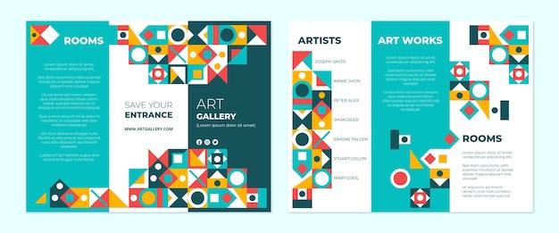 Modèle de brochure à trois volets en mosaïque plate