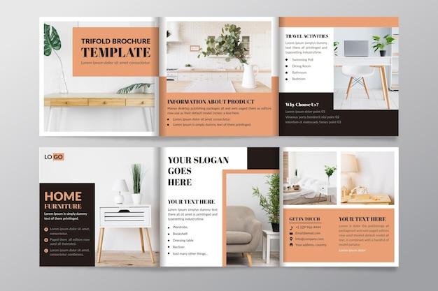 Modèle de brochure à trois volets avec photo