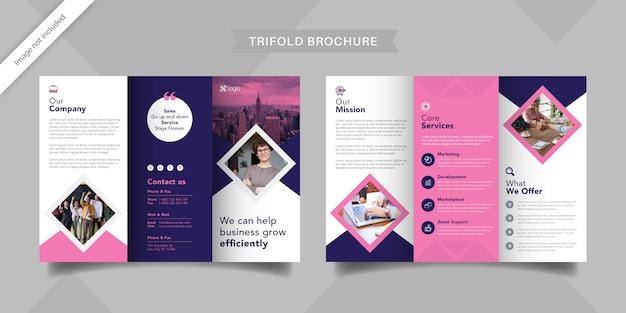 Modèle de brochure à trois volets pour les femmes