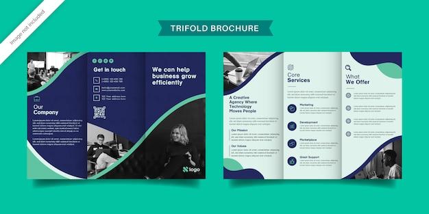 Modèle de brochure à trois volets professionnel