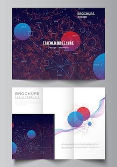 Modèle de brochure à trois volets sur la technologie