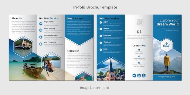 Modèle de brochure à trois volets de voyage