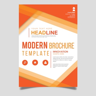 Modèle de brochure de vecteur moderne