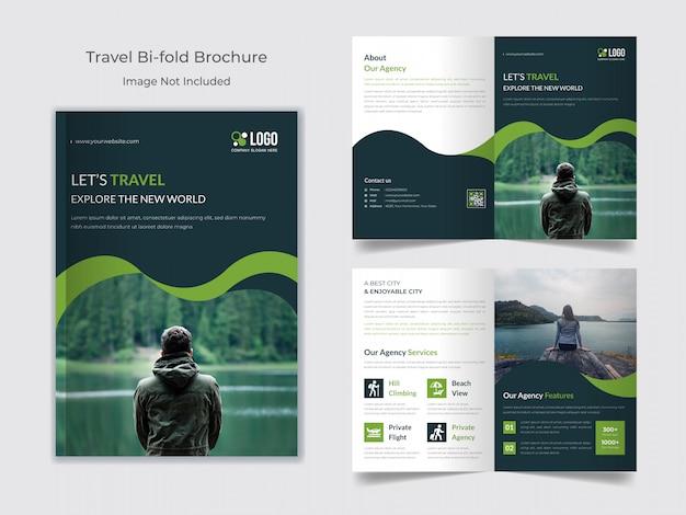 Modèle de brochure de voyage à deux volets