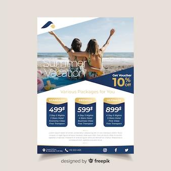 Modèle de brochure de voyage avec photo