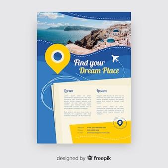 Modèle de brochure de voyage photographique