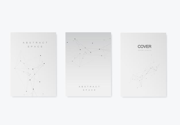 Modèle de brochures de vecteur avec connexion design et modèle de technologie abstraite