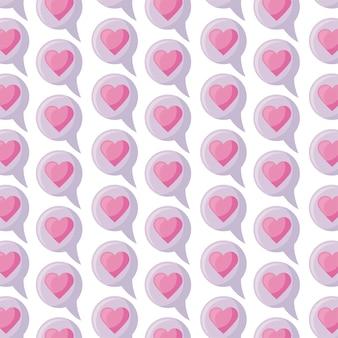Modèle de bulle avec coeur amour