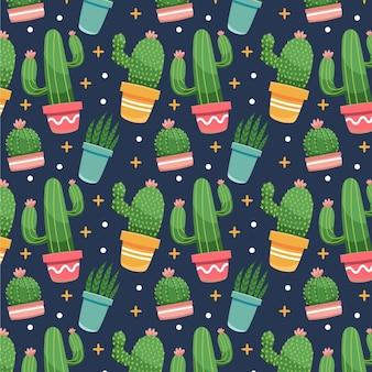 Modèle de cactus design plat