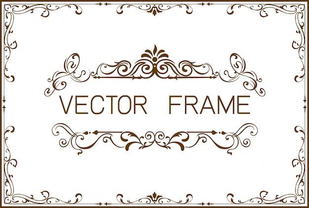 Modèle de cadre de bordure doré du certificat