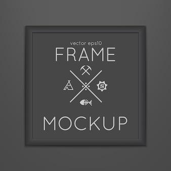 Modèle de cadre carré avec affiche