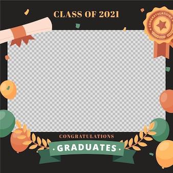 Modèle de cadre de classe plat organique de 2021