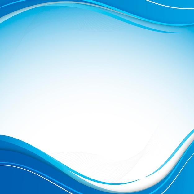 Modèle de cadre de courbe bleue