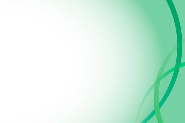Modèle de cadre de courbe vert émeraude