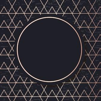 Modèle de cadre doré carte fond élégant géométrique