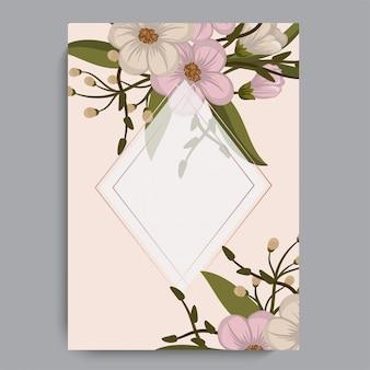 Modèle de cadre de fleurs. illustration vectorielle