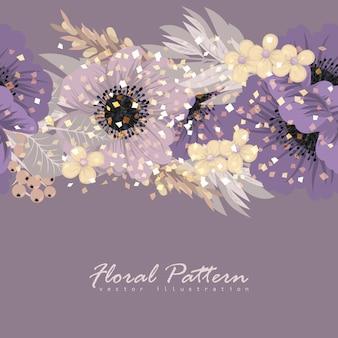 Modèle de cadre de fleurs.