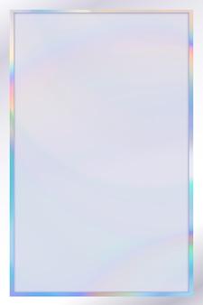 Modèle De Cadre Holographique Vecteur gratuit
