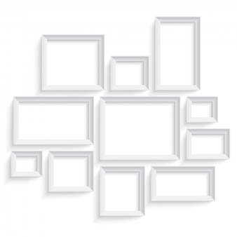 Modèle de cadre d'image vide