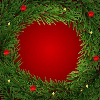 Modèle de cadre joyeux noël et nouvel an