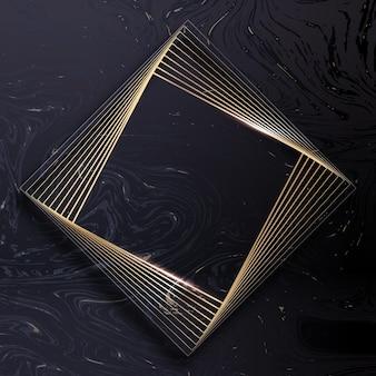 Modèle de cadre de luxe doré dégradé