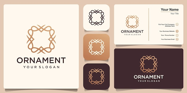Modèle de cadre monogramme vintage