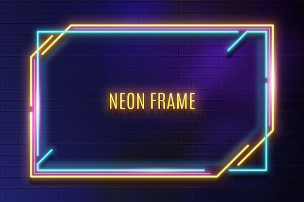 Modèle de cadre néon