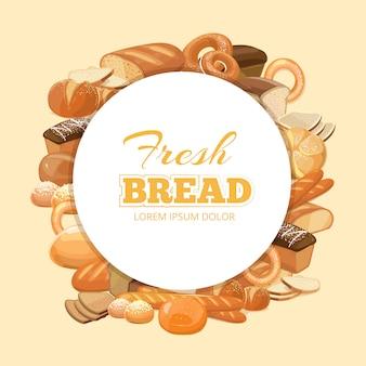Modèle de cadre de pain de différentes sortes