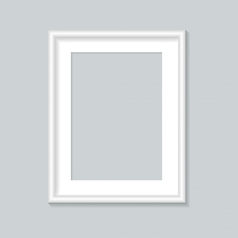 Modèle de cadre photo blanc.