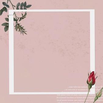 Modèle de cadre photo collage blanc sur fond rose