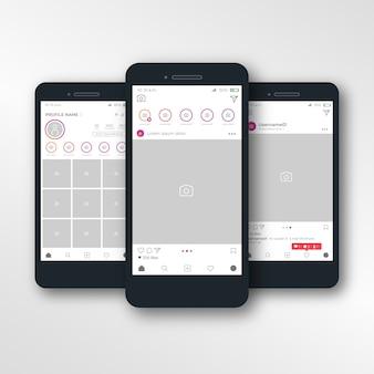 Modèle de cadre photo instagram sur iphone