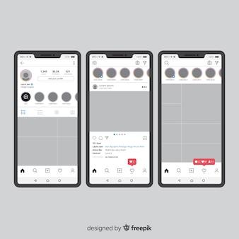 Modèle de cadre photo instagram