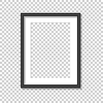 Modèle de cadre photo noir. illustration.