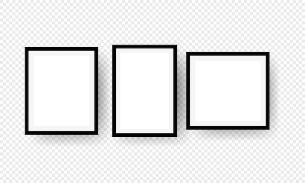 Modèle de cadre photo réaliste.