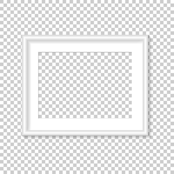 Modèle De Cadre Photo Vierge Vecteur Premium