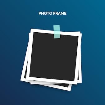 Modèle de cadre polaroid