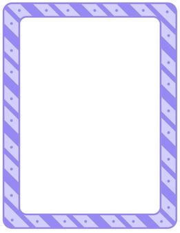 Modèle de cadre de rayures diagonales vides