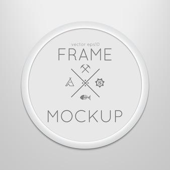 Modèle de cadre rond avec affiche
