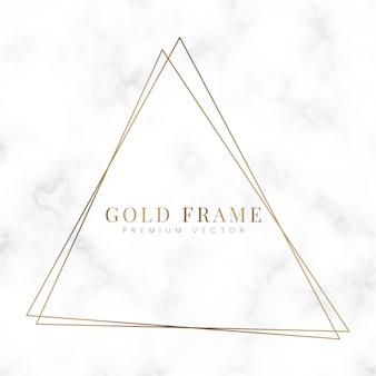 Modèle de cadre triangle doré