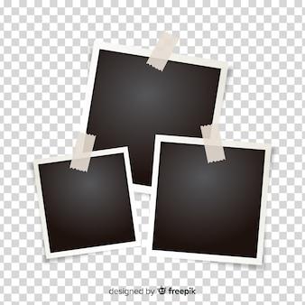 Modèle de cadres polaroid