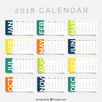 Modèle de calendrier 2018