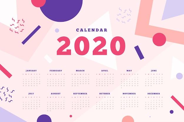 Modèle de calendrier abstrait 2020