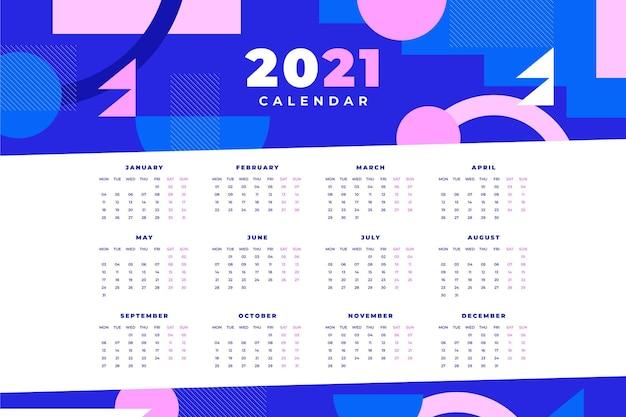 Modèle de calendrier abstrait 2021