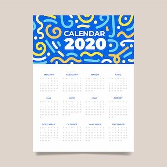Modèle de calendrier abstrait coloré.